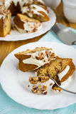 Cinnamon sour cream cake Stock Images