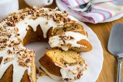 Cinnamon sour cream cake Stock Photos
