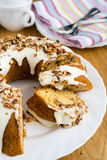 Cinnamon sour cream cake Stock Photo