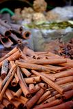 Cinnamon at the spice market Royalty Free Stock Photography