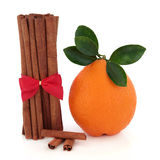 Cinnamon Spice and Orange Fruit Royalty Free Stock Photos