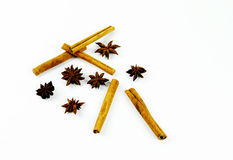 Cinnamon. Spice stars sticks brown spices delicious aroma of the food kitchen stock images