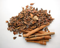 Cinnamon & spices royalty free stock photo