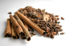Cinnamon & spices royalty free stock images