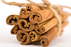Cinnamon Spicy Sticks Close-up Royalty Free Stock Photos