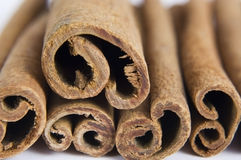Cinnamon in the stack. Stock Image