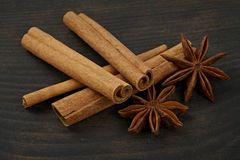 Cinnamon and star anise Royalty Free Stock Photo