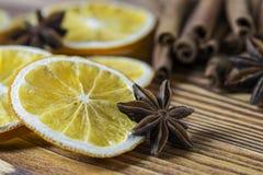 Cinnamon and star anise stock photos