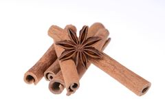 Cinnamon and star anise Stock Photography