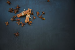 Cinnamon and star anise Stock Photo