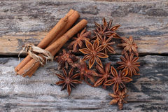 Cinnamon and star anise Stock Image