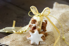 Cinnamon star cookies Stock Photography