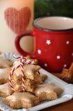 Cinnamon star cookies. Close-up of some cinnamon star cookies, in german Zimtsterne Stock Image