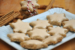 Cinnamon star cookies Stock Photos