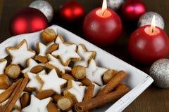 Cinnamon star cookies Royalty Free Stock Photos