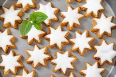 Cinnamon star cookies Stock Image