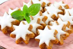 Cinnamon star cookies Royalty Free Stock Photography
