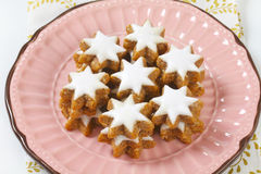 Cinnamon star cookies Stock Photos