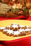 Cinnamon star cookies (Zimtsterne) Stock Photography