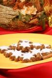 Cinnamon star cookies (Zimtsterne) Stock Photography
