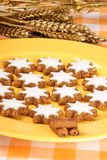 Cinnamon star cookies, Zimtsterne Stock Image