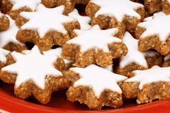 Cinnamon star cookies, Zimtsterne Stock Photos