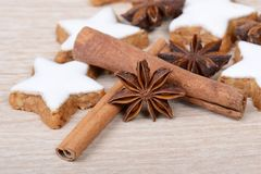 Cinnamon stars Royalty Free Stock Photography