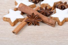 Cinnamon stars Stock Photography