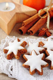Cinnamon stars biscuits Royalty Free Stock Image