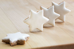 Cinnamon stars christmas cookies Royalty Free Stock Image