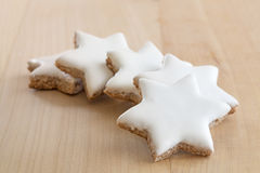 Cinnamon stars christmas cookies Stock Photos