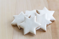 Cinnamon stars christmas cookies Royalty Free Stock Images