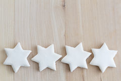 Cinnamon stars christmas cookies with text space Royalty Free Stock Image