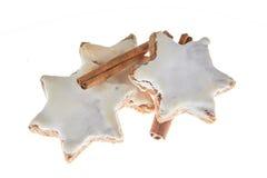 Cinnamon stars christmas isolated. Isolated cinnamon stars cookies for christmas Royalty Free Stock Photography