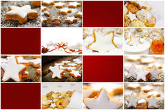 Cinnamon stars, Gift Tags Royalty Free Stock Images