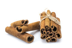 Cinnamon stick bunch Stock Photos