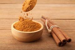 Cinnamon stick and cinnamon powder Royalty Free Stock Image