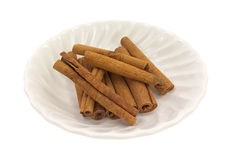 Cinnamon Stick Group Side View In Bowl Stock Photo