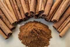 Cinnamon stick Royalty Free Stock Images