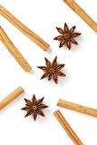 Cinnamon stick and star anise Stock Image