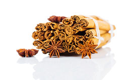 Cinnamon stick and star anise Royalty Free Stock Photo