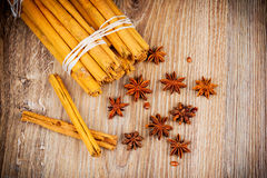 Cinnamon stick and star anise Royalty Free Stock Image