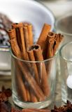 Cinnamon sticks. In a glass Stock Photography