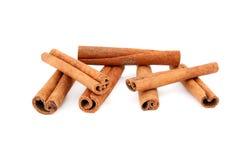 Cinnamon sticks. Studio isolated on white background Royalty Free Stock Photography