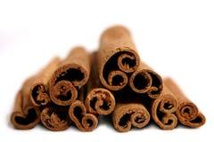 Cinnamon sticks. Cinnamon stick isolated on white background Stock Photos