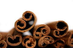 Cinnamon sticks. Cinnamon stick isolated on white background Royalty Free Stock Photography
