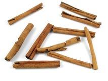 Cinnamon sticks. Indonesian cinnamon sticks royalty free stock photos