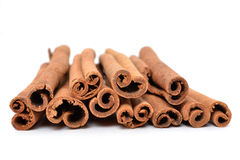 Cinnamon Sticks. On white background Stock Photo