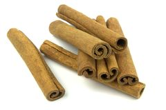 Cinnamon sticks. On white background Royalty Free Stock Photography