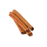 Cinnamon sticks. Several cinnamon sticks on white background royalty free stock photo